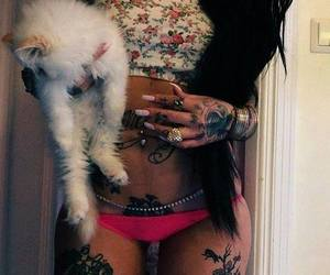 tattoo, cat, and sexy image