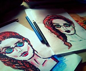 art, hipster, and pencil image