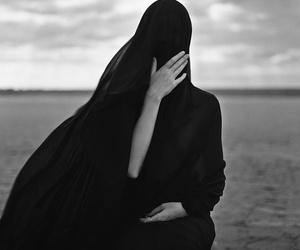 black, hijab, and islam image