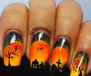 Halloween, nailart, and nail image
