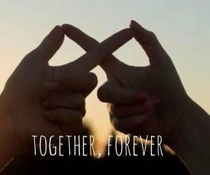 forever, happy, and together image