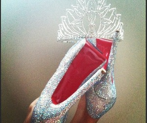 heels, shoes, and crown image