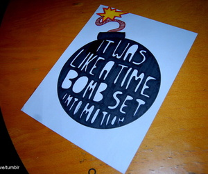 all time low, Lyrics, and time bomb image