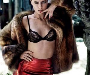 Adriana Lima, fur, and model image
