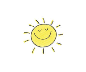 sun, smile, and yellow image