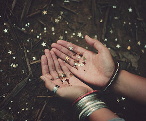 stars, hands, and glitter image