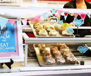 cupcakes, keep calm, and cute image