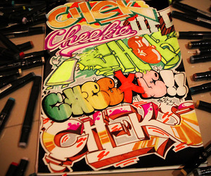 colors, graffiti, and letters image