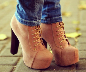 brown, heels, and hight image
