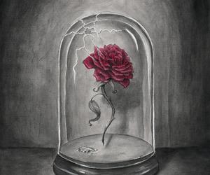 rose, art, and disney image
