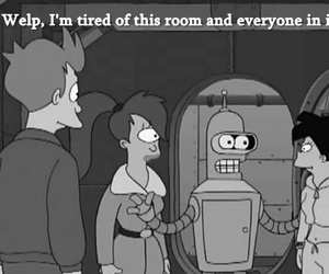 Bender, black and white, and freak image