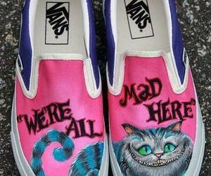 vans, shoes, and alice in wonderland image