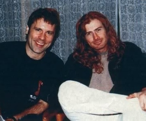 Bruce Dickinson, dave mustaine, and metal image