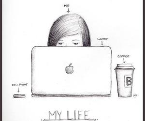 coffee, drawing, and me image
