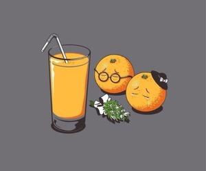 orange, juice, and funny image