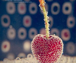 cherry, bubbles, and fruit image