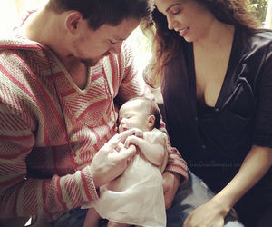 baby, channing tatum, and family image