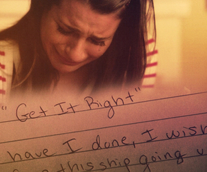 glee, rachel berry, and get it right image
