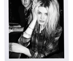 alison mosshart, black and white, and Jamie Hince image