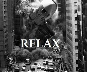 relax, black and white, and city image