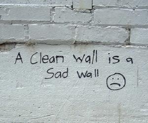 sad and wall image