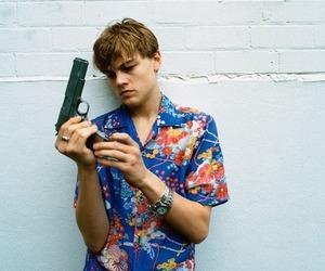 leonardo dicaprio, gun, and boy image