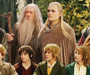 LOTR, frodo, and gandalf image