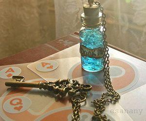 alice in wonderland, key, and drink me image
