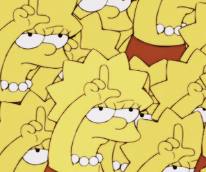 loser, lisa, and simpsons image