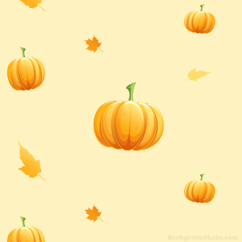 Seamless Pumpkin Pattern Background Labs On We Heart It