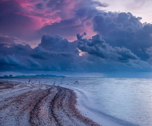 beach, photography, and sky image