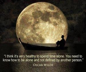 alone, independence, and oscar wilde image