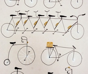 bike, gold, and cool image