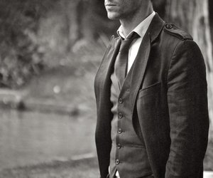 black and white, classy, and guy image