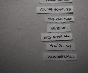 music, wonderwall, and you're gonna be the one image
