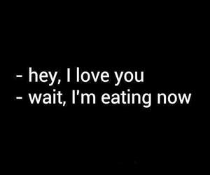 love, food, and eat image