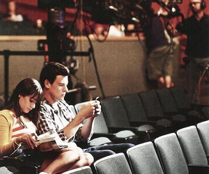 glee, finchel, and monchele image