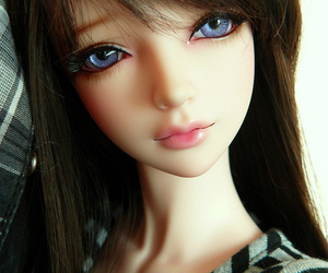 bjd, blue, and doll image