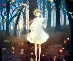 anime, autumn, and elf image