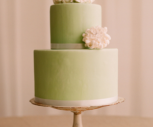 cake, green, and wedding image
