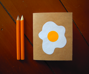 blank pages, cooked, and egg image