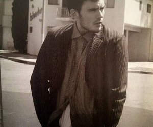sam claflin, black and white, and finnick odair image