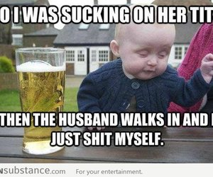 funny, baby, and text image