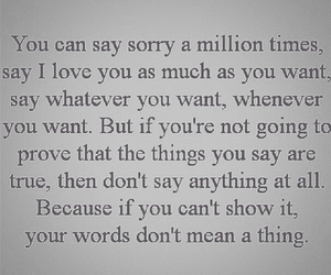 love, quote, and sorry image