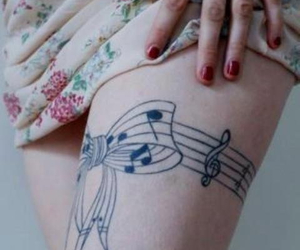 tattoo, music, and bow image