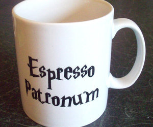 harry potter, coffee, and cup image