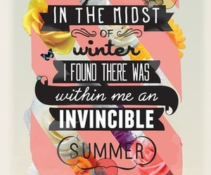 summer, quote, and winter image
