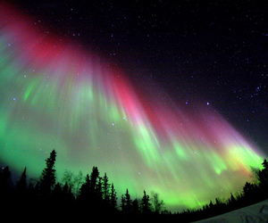 light, northern lights, and photography image