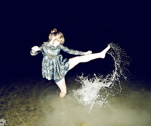 girl, water, and kicks image