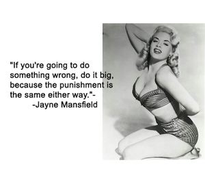 quote and jayne mansfield image